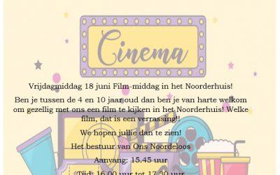 Film-middag in het Noorderhuis op 18 juni